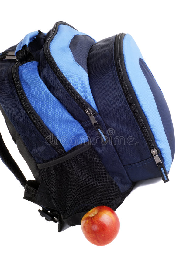 School Backpack stock photos