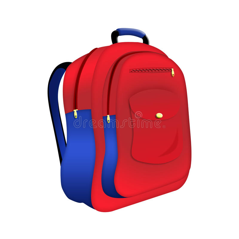 School backpack royalty free illustration