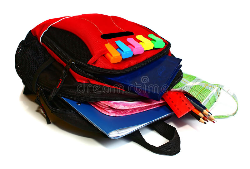 Download School backpack stock image. Image of children, background - 13510029