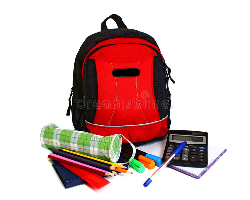 Download School backpack stock image. Image of book, travel, education - 13510035