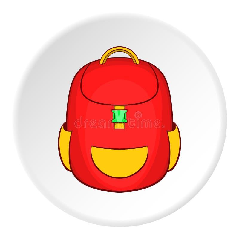 School backpack icon, cartoon style royalty free illustration