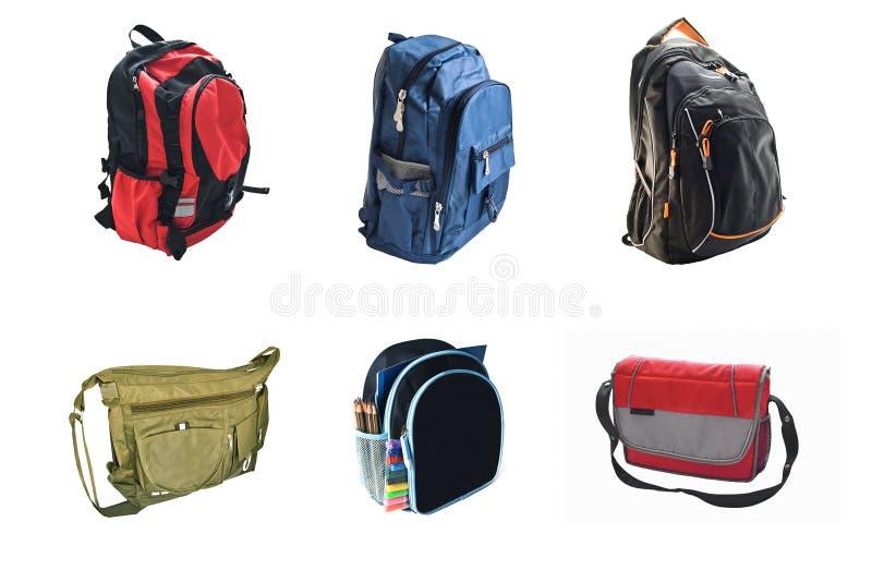 School backpacks royalty free stock photos