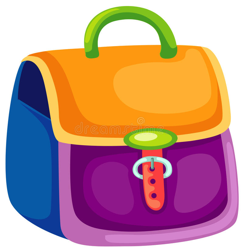 School bag royalty free illustration