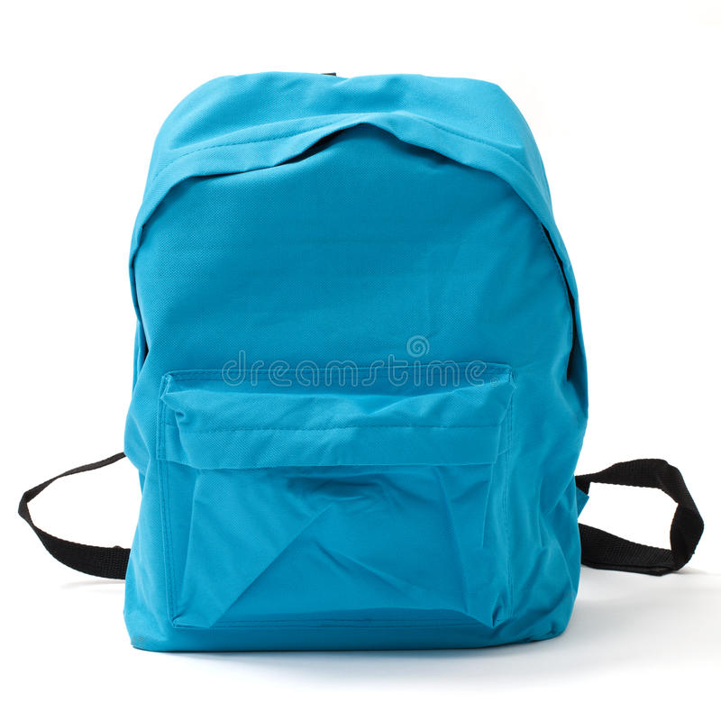 School Bag with Clipping Path stock photography