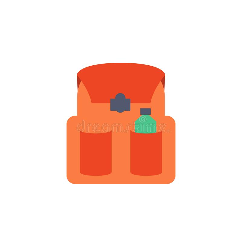 School bag colored icon. Element of school icon for mobile concept and web apps. Detailed school bag icon can be used for web and. Mobile. Simple icon on white stock illustration