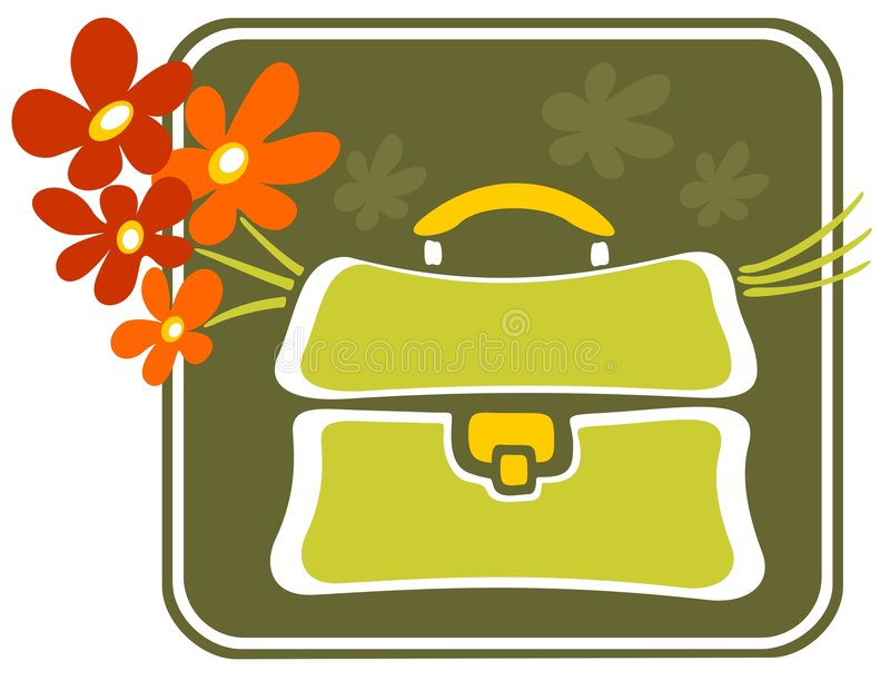 Download School bag with flowers stock vector. Illustration of school - 6521591