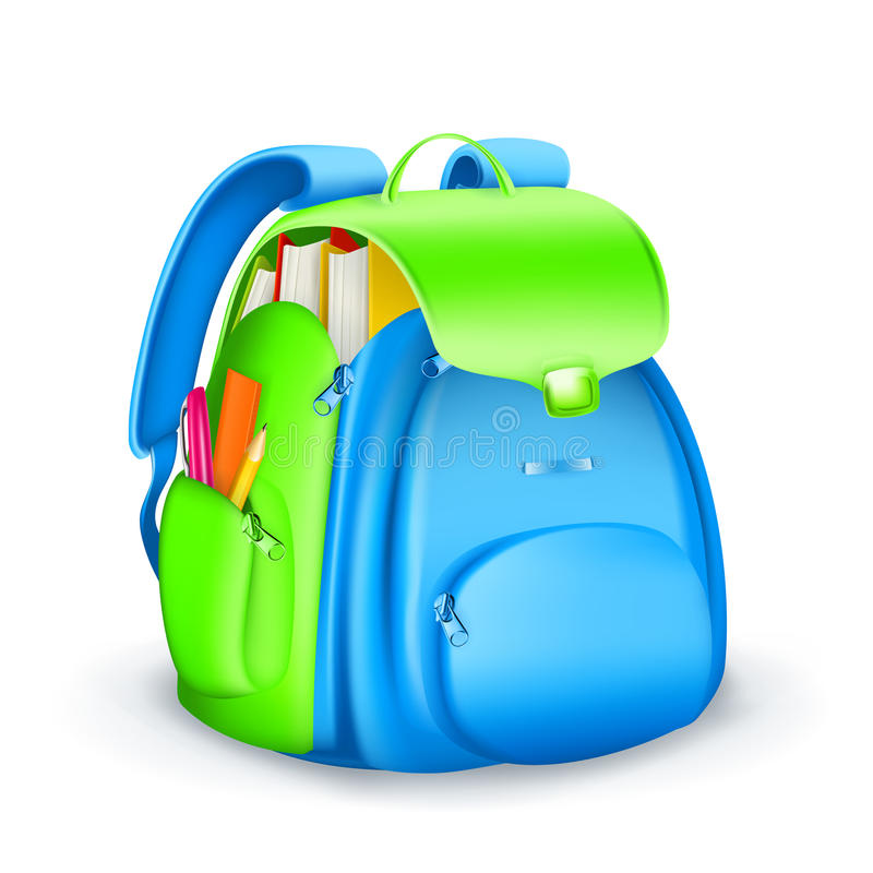 School bag icon royalty free illustration