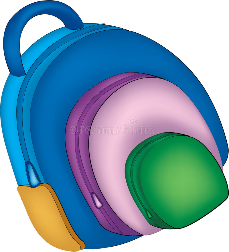 Download School bag illustartion stock illustration. Illustration of pupil - 1021582