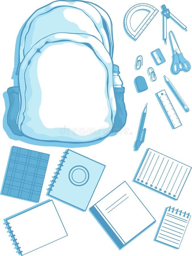 Download School Bag And School Supplies Stock Vector - Image: 27907350