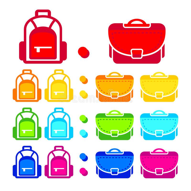 Download School bags stock vector. Image of blue, offspring, september - 24575197