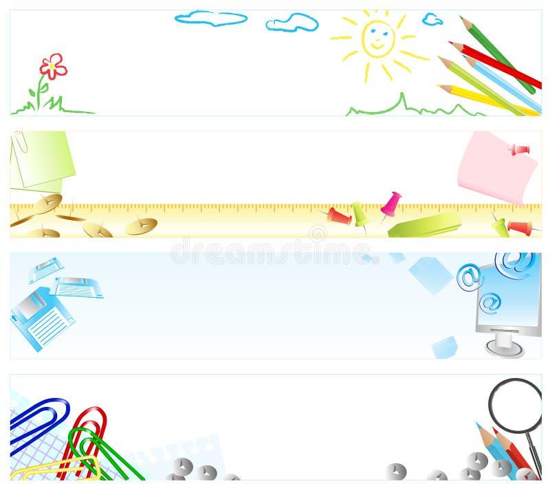 School banners stock illustration