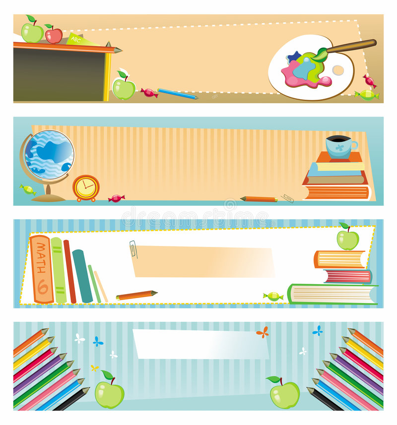 School banners vector illustration