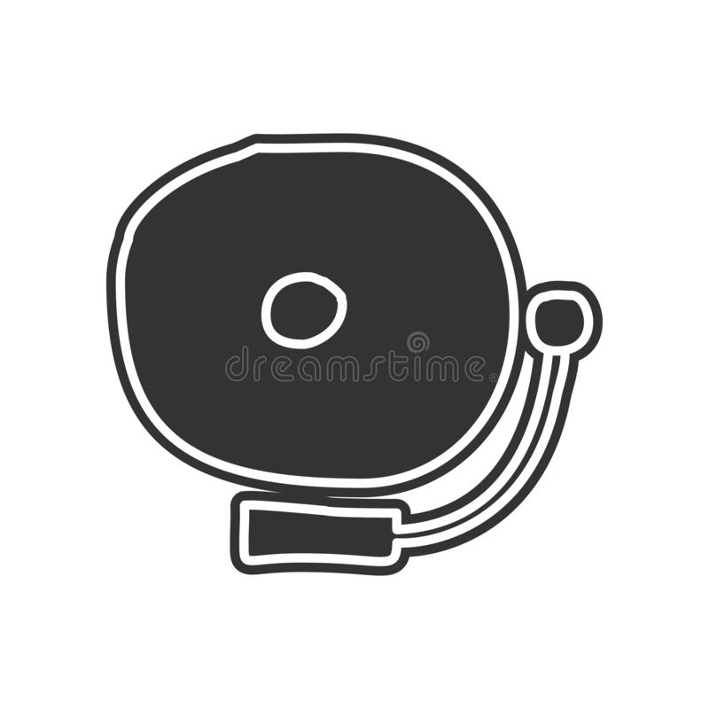 School bell sketch icon. Element of Education for mobile concept and web apps icon. Glyph, flat icon for website design and. Development, app development on royalty free illustration