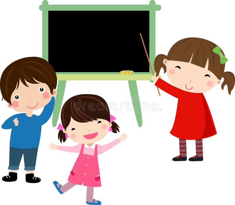 Download School Blackboard With Children Stock Vector - Illustration: 13254542