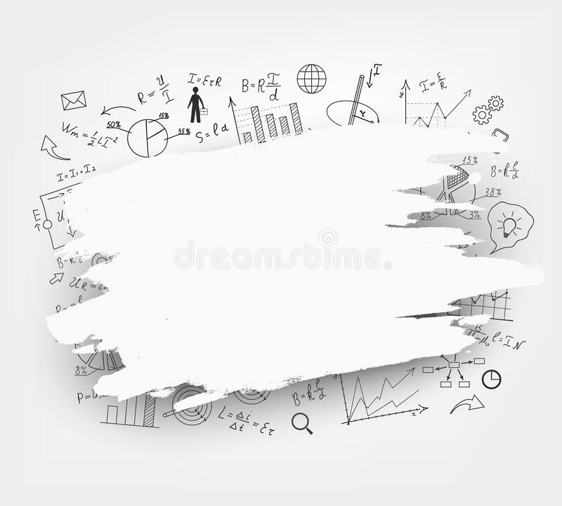 Physics Diagrams And Formulas Stock Illustration