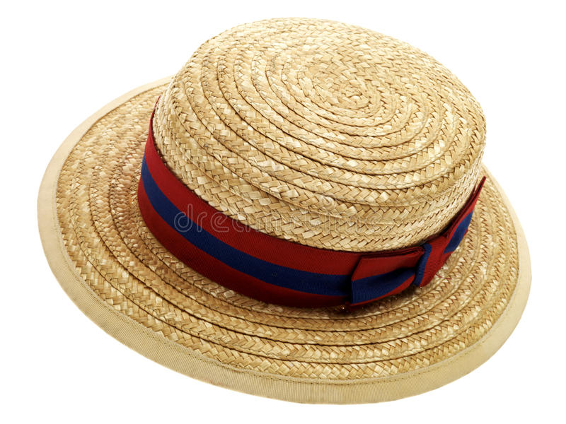 School Boater Hat Royalty Free Stock Image