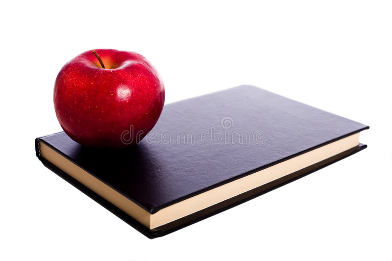 School Book and Apple royalty free stock photos