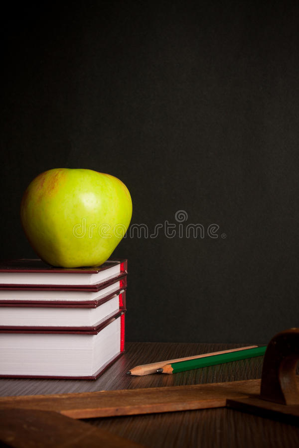 Free School Books On Desk Stock Photography - 16084932