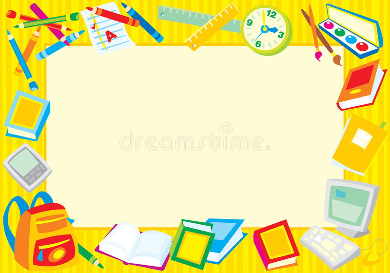 School border royalty free illustration