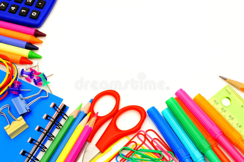 White Backgrounds With Colorful Borders School Border R...