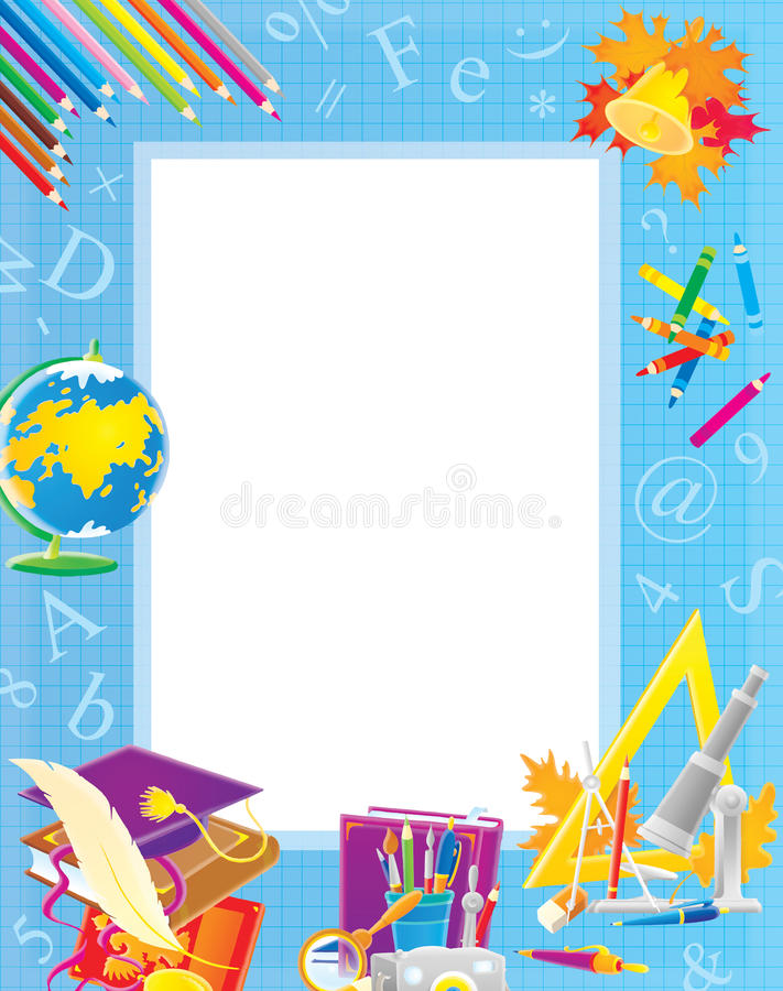 School Border For Your Photo And Text Stock Illustration ...