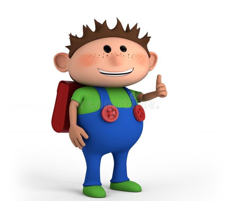 Download School boy stock illustration. Illustration of green - 20905310