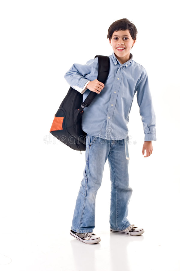 Download School Boy stock photo. Image of caucasian, jeans, latin - 2271302