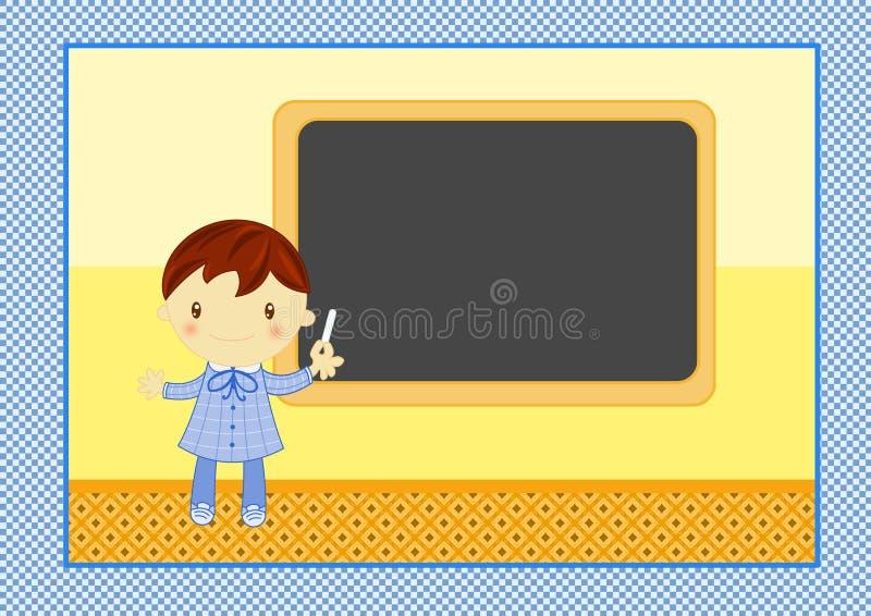 Download School boy with blackboard stock illustration. Illustration of lesson - 23700788