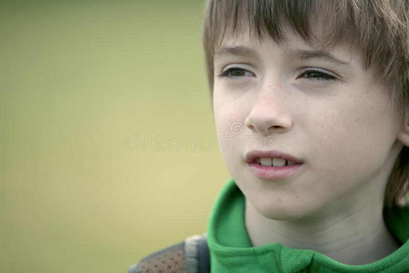 School boy face stock photo