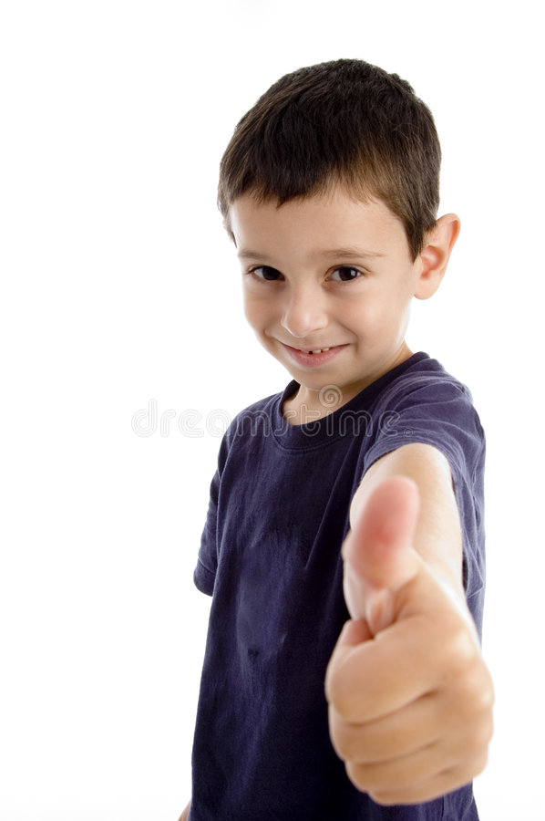 Download School Boy Showing Thumbs Up Stock Image - Image: 7418181