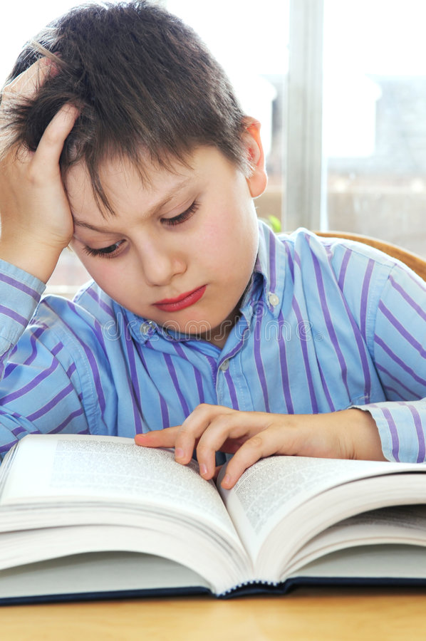School boy studying royalty free stock images