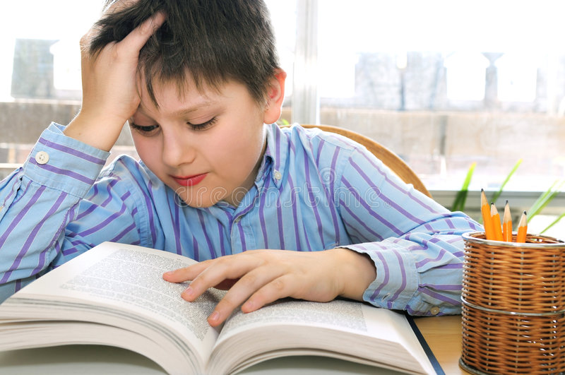 Download School boy studying stock image. Image of pupil, pupils - 5110485