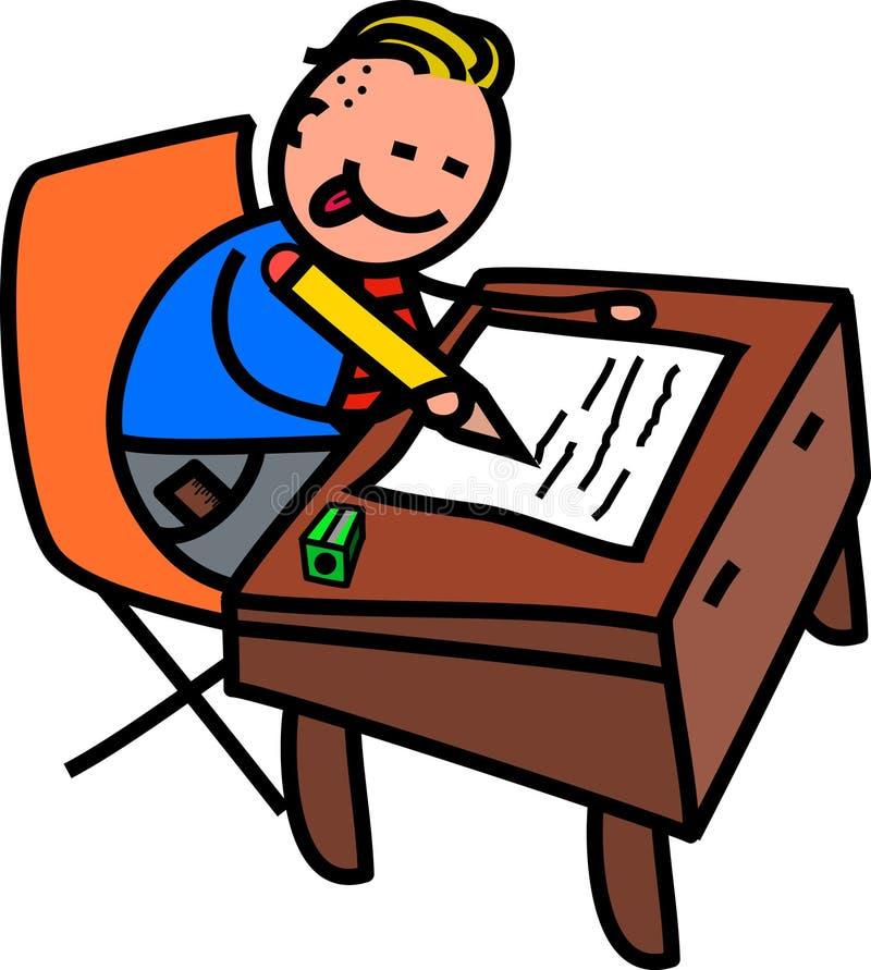 School Boy Test royalty free illustration