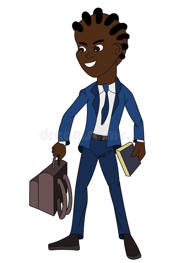 School boy in uniform cartoon royalty free stock photos