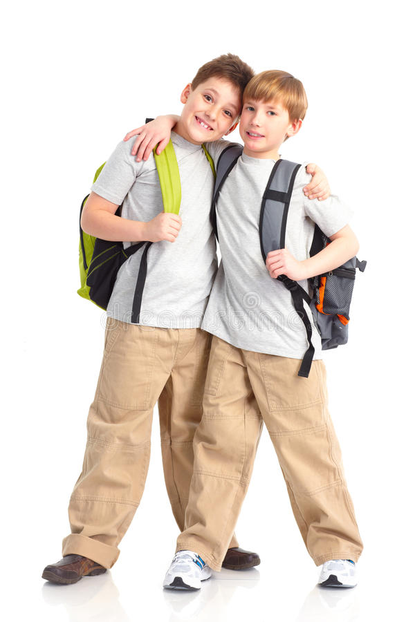 Download School boys stock image. Image of casual, isolated, primary - 13438897