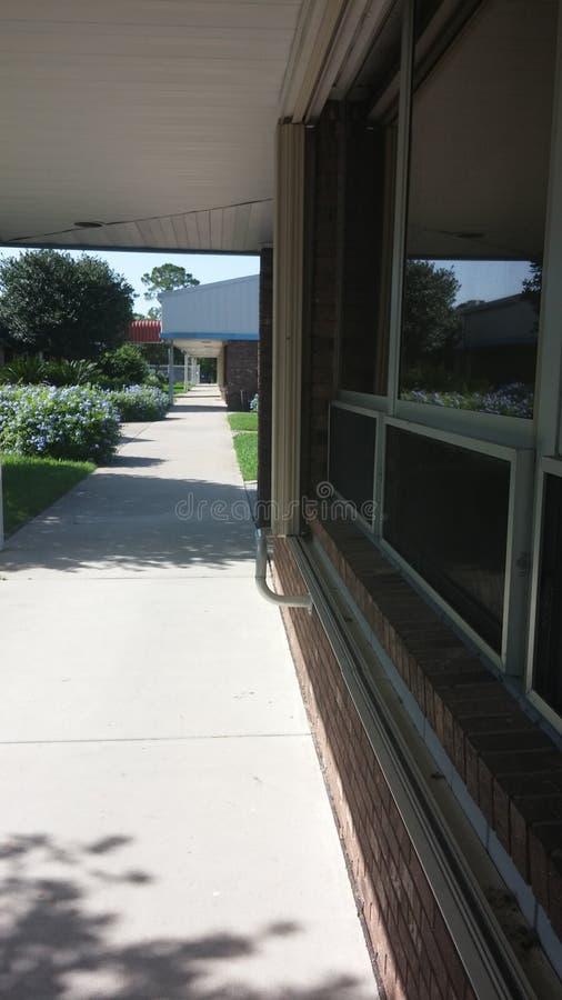 School Breezeway. Sidewalk at a school in Florida stock images