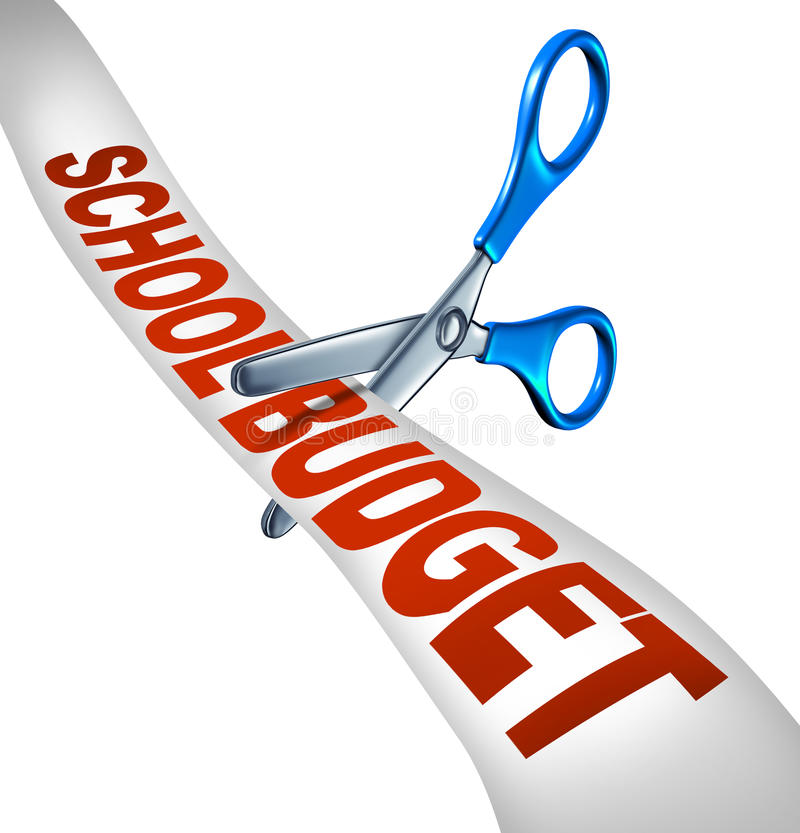 Download School Budget Cuts stock illustration. Image of background - 33623610