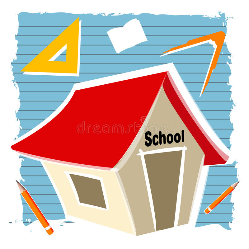 Download School building stock illustration. Image of lines, abstract - 16687453