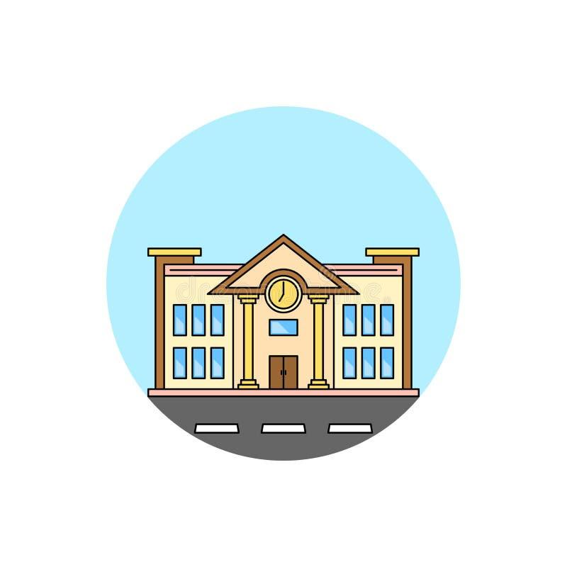 School building cityscape icon. royalty free illustration