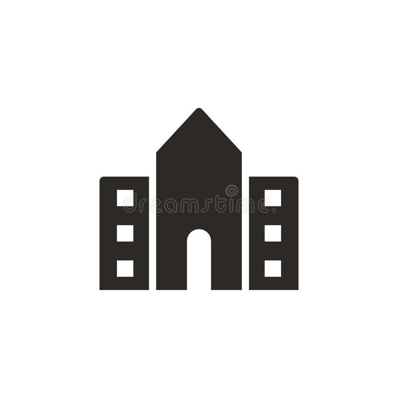 School, building, college icon - Vector. Simple element illustration from UI concept. School, building, college icon - Vector. Infographic concept vector royalty free illustration