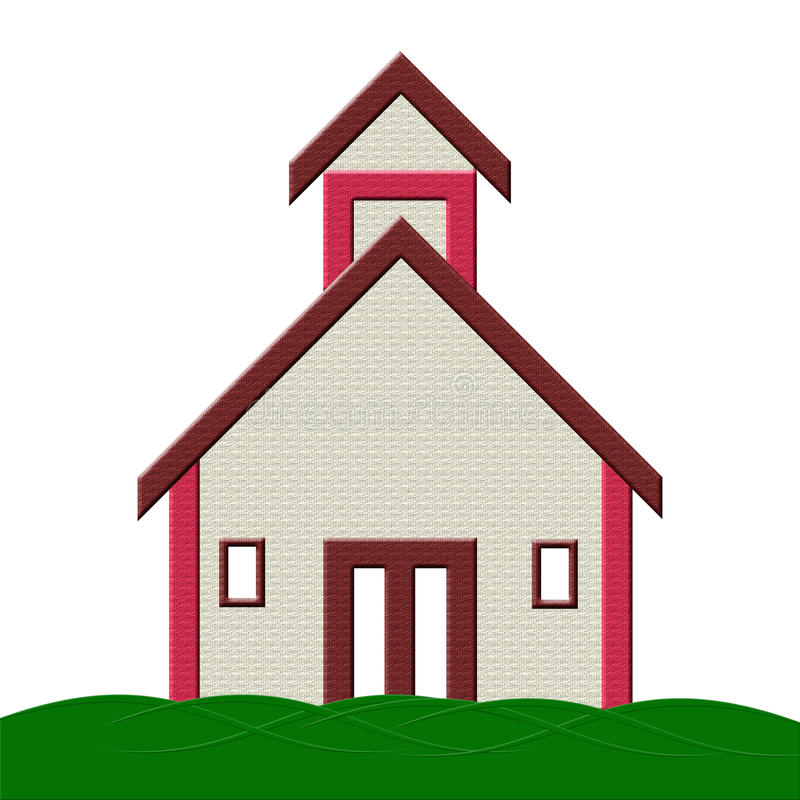 Download School Building With Grass Illustration Stock Photo - Image: 25578300