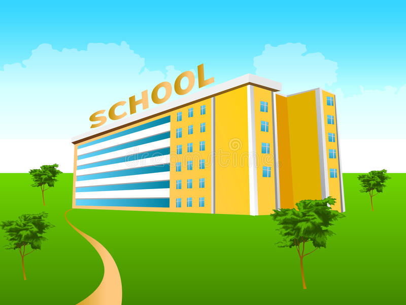 Download School Building In The Green Stock Photography - Image: 14292122