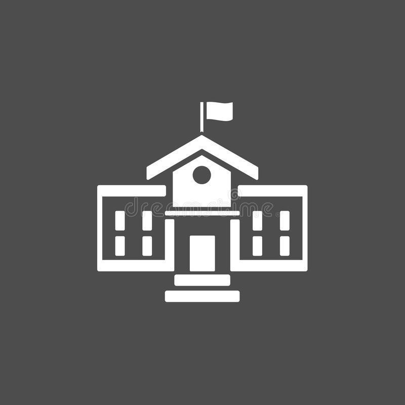 School building icon stock illustration