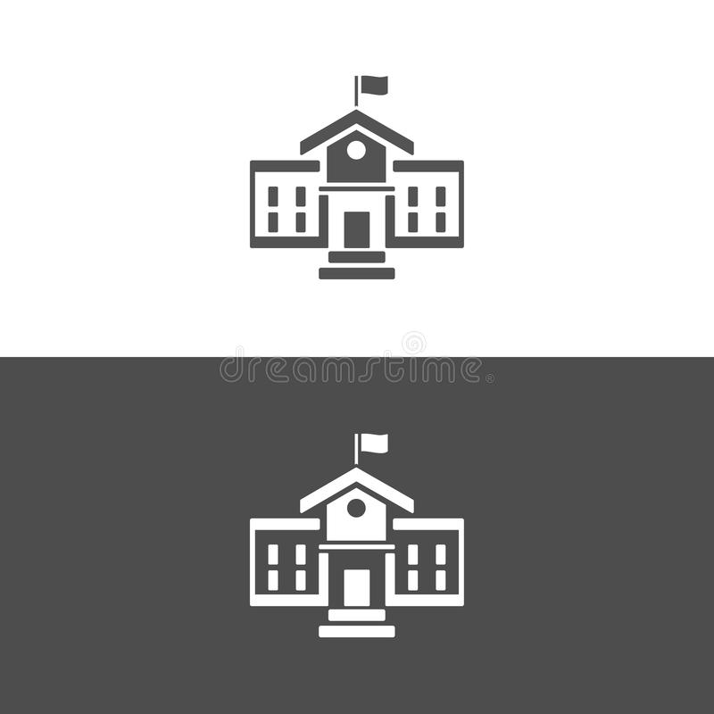 School building icon vector illustration