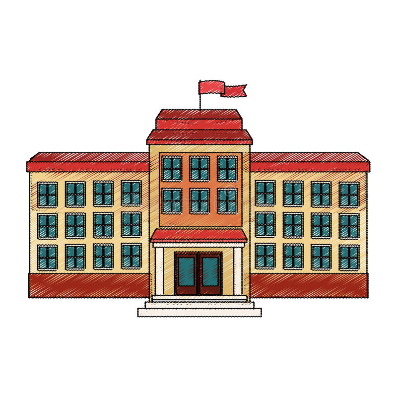 School building icon. Over white background. colorful design. vector illustration royalty free illustration