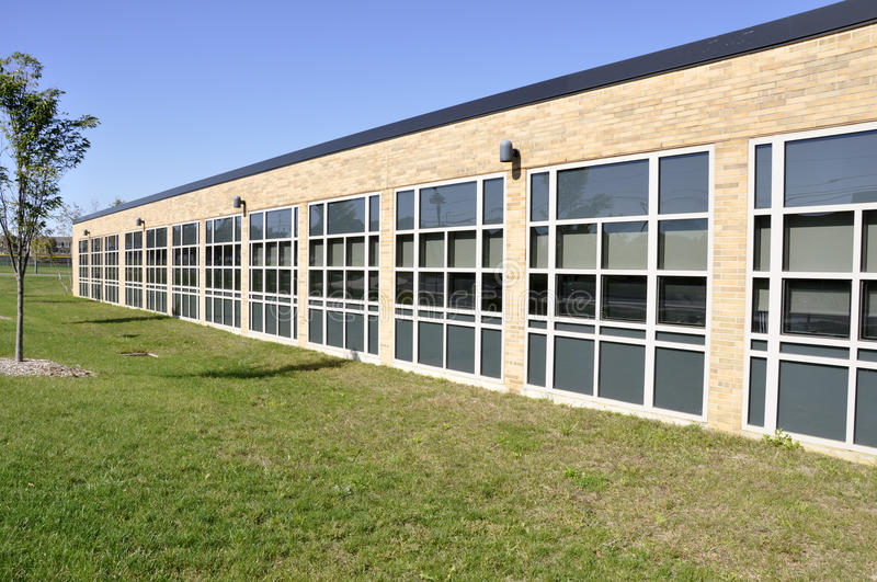 Download School Building With Many Windows Stock Image - Image: 16638185