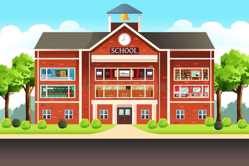 School Building vector illustration
