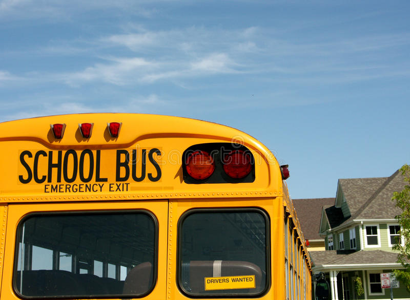 School Bus. Yellow bus, room for text royalty free stock images