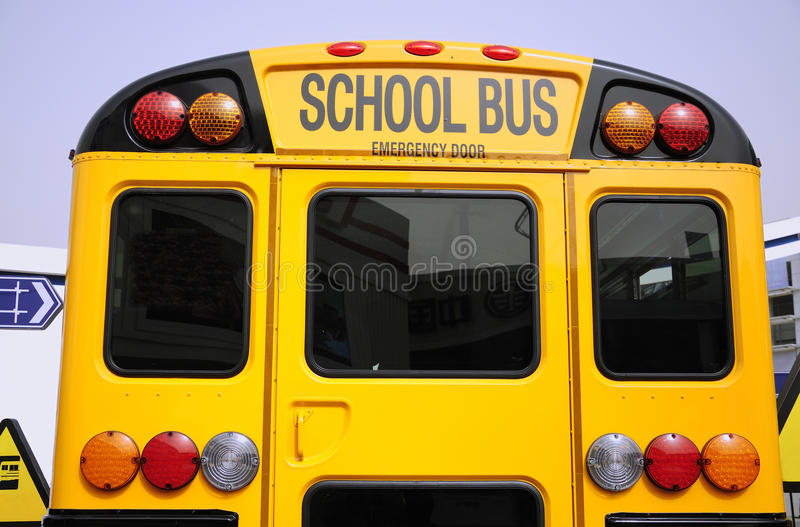 Download School bus stock image. Image of color, side, stop, street - 24678063