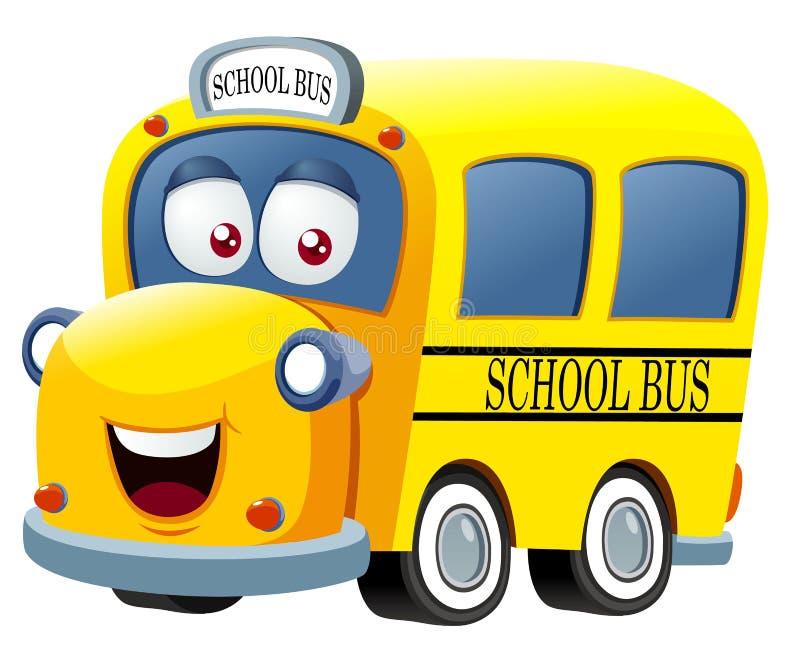School bus cartoon royalty free illustration